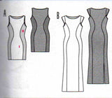 Burda 7053 Womens Stretch Color Block Dress OOP Sewing Pattern Sizes 6 - 18 UNCUT Factory Folded