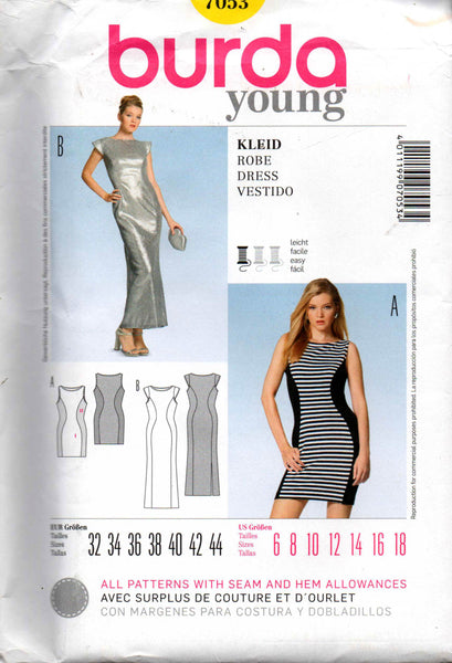 Burda 7053 stretch dress