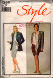 style 1295 alfred sung 80s skirt suit