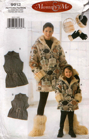 vogue 9912 mother and daughter coat etc