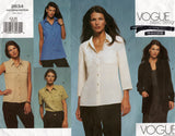 Vogue Basic Design 2634 Womens Loose Fitting Shirts Out Of Print Sewing Pattern Size 6 - 10 UNCUT Factory Folded