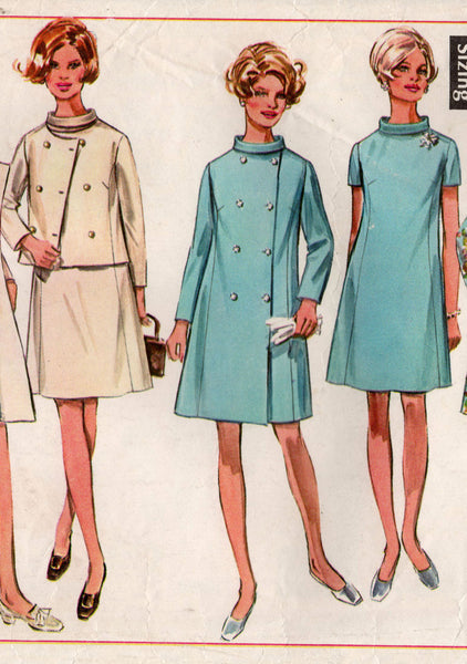 simplicity 8056 60s dress jacket coat