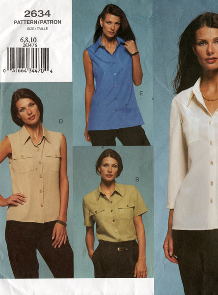 Vogue 2634 vogue basic design 2634 shirts oop