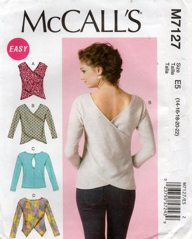 McCall's M7127 stretch tops