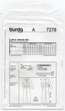 Burda 7278 Womens Zip Front Fitted Overalls Boiler Suit OOP Sewing Pattern Sizes 8 - 20 UNCUT Factory Folded