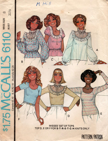 McCall's 6110 70s tops