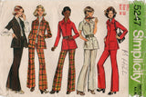 Simplicity 5247 Womens Safari Style Shirt & Pants 1970s Vintage Sewing Pattern Size 16 UNCUT Factory Folded