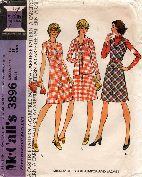 McCall's 3896 70s dress and jacket