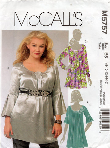 McCall's 5757 tunic tops oop