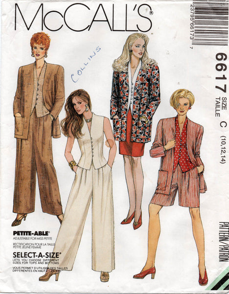 McCall's 6617 separates 90s