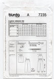 Burda 7235 Womens Sleeveless Jumpsuit Top & Pants OOP Sewing Pattern Sizes 6 - 20 UNCUT Factory Folds