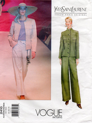 Vogue 2410 ysl jacket and pants