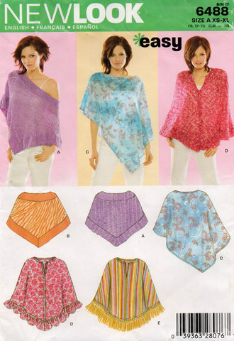 New Look 6488 poncho oop