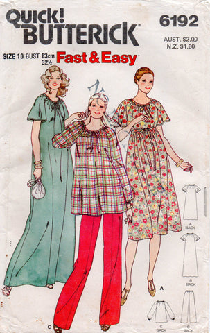 butterick 6192 80s maternity wear