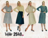 Vogue 2648 Womens EASY Shirtdress 1980s Vintage Sewing Pattern Size 10 Bust 32 1/2 inches
