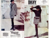 Vogue American Designer 2781 DKNY Womens Jacket Wrap Skirt & Scarf 90s Vintage Sewing Pattern Size 6 8 10 UNCUT Factory Folds