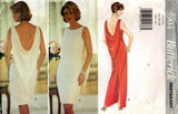 Butterick 3904 Womens EASY Evening Dress with Draped Back 1990s Vintage Sewing Pattern Size 14 - 18 UNCUT Factory Folds