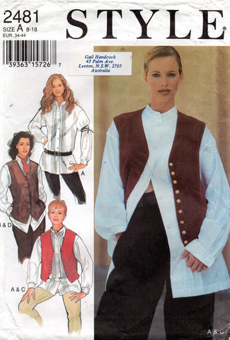 style 2481 90s shirts and waistcoats