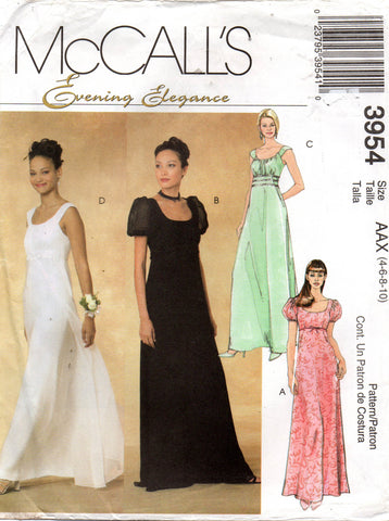 mccall's 3954 empire waist dress oop