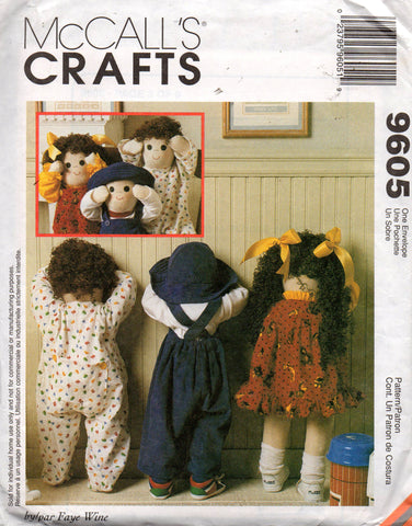 McCall's 9605 time out dolls 90s