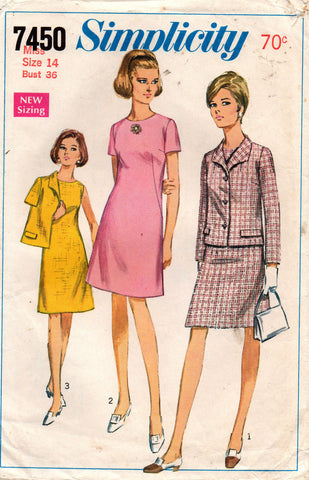 simplicity 7450 60s dress and jacket