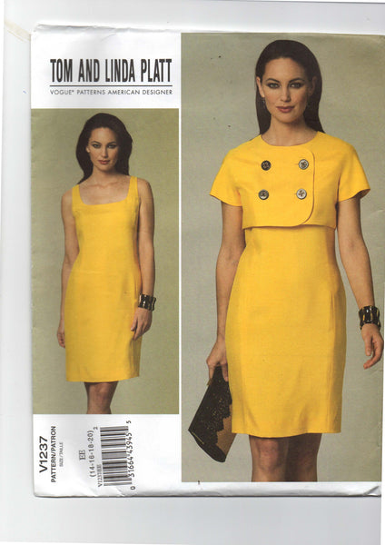 Vogue 1237 Tom and Linda Platt dress and jacket