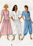 butterick 5500 90s dress and jumpsuit