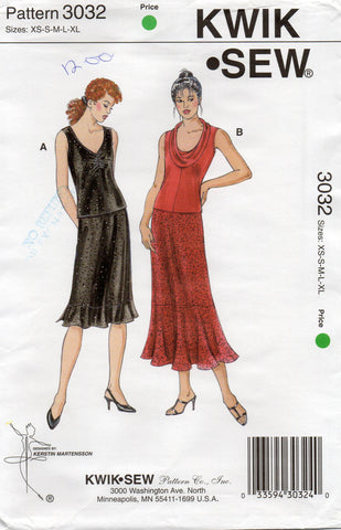 kwik sew 3032 oop stretch tops and skirts
