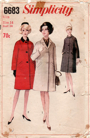 simplicity 6683 60s winter coat
