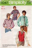 simplicity 5047 70s shirt and vest