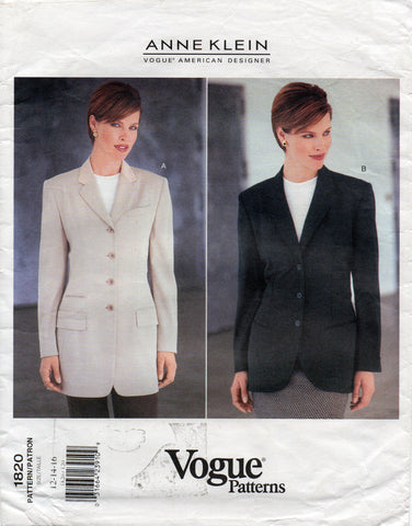 Vogue 1820 Anne Klein 90s jacket