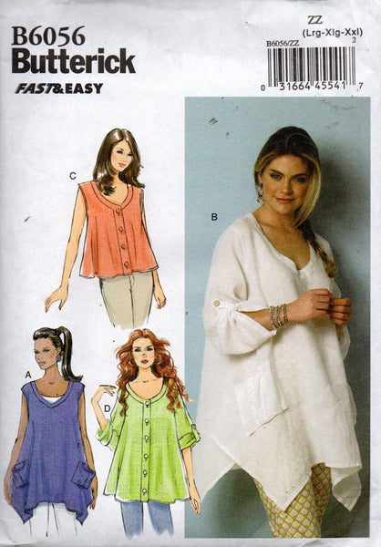 butterick 6056 tent tops