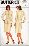 butterick 3415 80s fitting shell