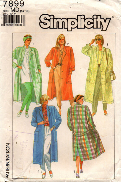 simplicity 7899 80s duster jacket