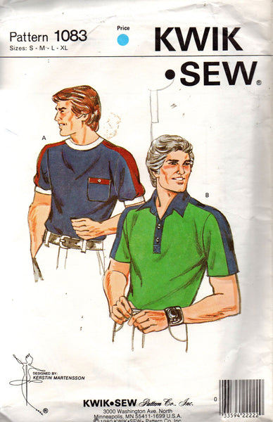 kwik sew 1083 80s mens t shirt and polo shirt