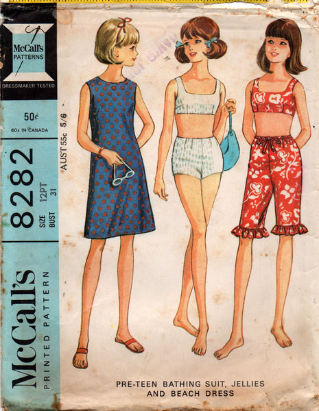 McCall's 8282 summer separates 60s