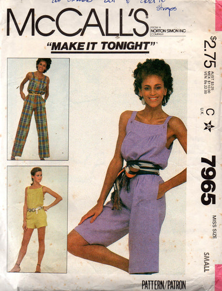 McCall's 7965 80s jumpsuit
