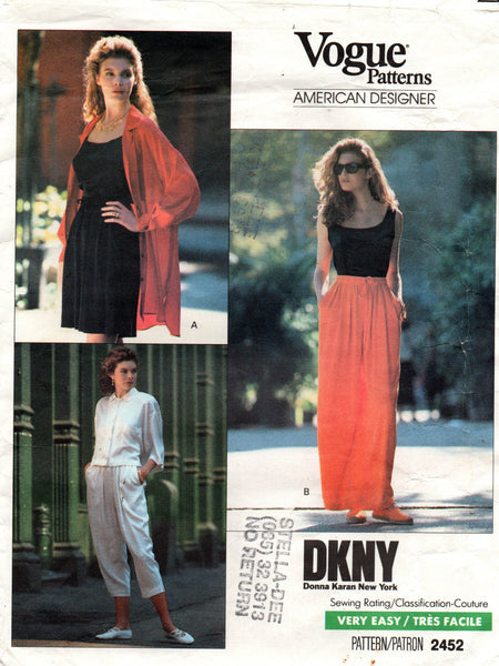Vogue 2452 DKNY shorts and pants