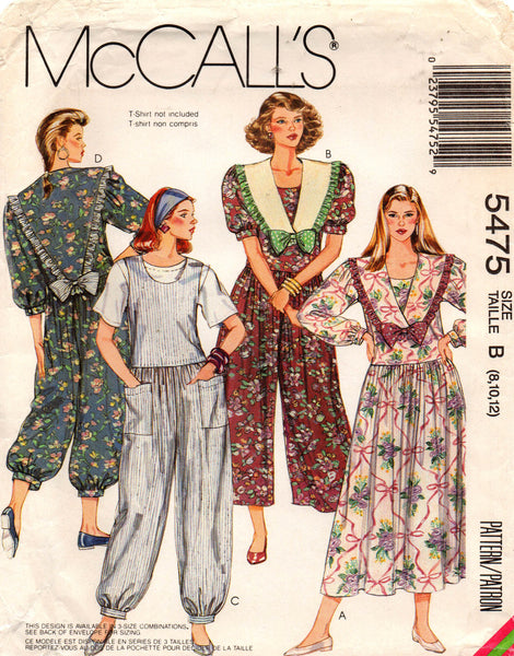 McCall's 5475 90s dress and jumpsuit