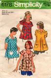 simplicity 6178 maternity tops 70s