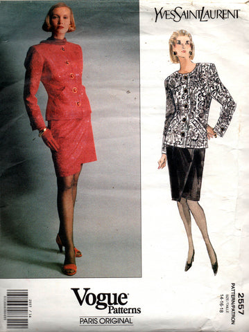 Vogue 2557 YSL skirt and jacket 90s