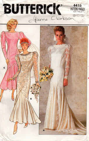 Butterick 4415 80s wedding dress