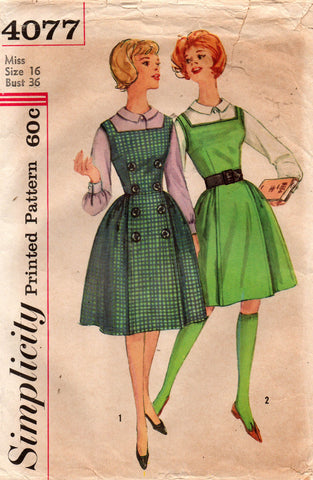 simplicity 4077 60s jumper dress and blouse
