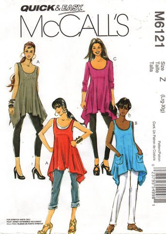 McCall's 6121 stretch tops oop