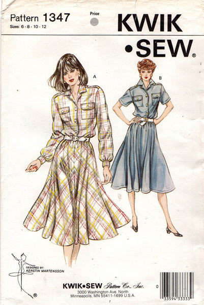 Kwik Sew 1347 80s shirtdress