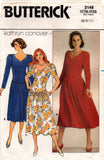butterick 3149 80s stretch dress kathryn conover