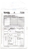 Burda 7208 Womens Stretch Ruched Tops Pants & Skirts OOP Sewing Pattern Sizes 10 - 22 UNCUT Factory Folds