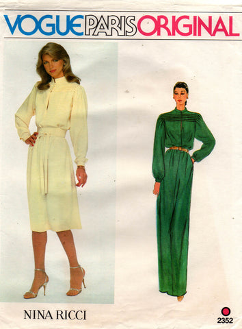 Vogue 2352 nina ricci 80s dress