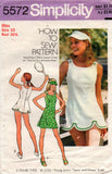 simplicity 5572 70s tennis outfit