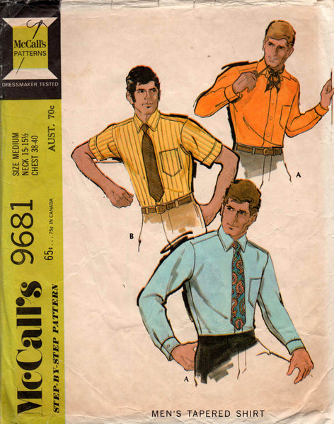 McCall's 9681 mens 60s shirts